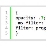 opacityの書き方 クロスブラウザ
