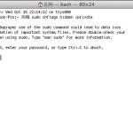 Macで不過視ファイル(隠しファイル、フォルダ)を表示させる方法(ターミナルを使って)